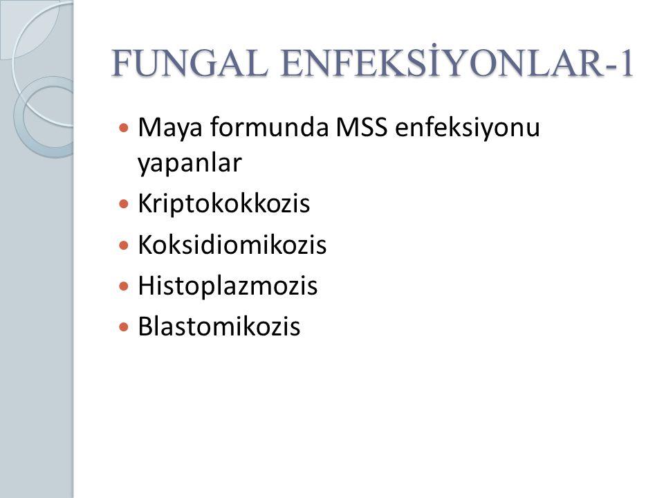 FUNGAL ENFEKSİYONLAR-1