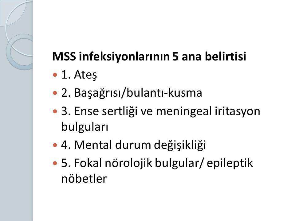 MSS infeksiyonlarının 5 ana belirtisi
