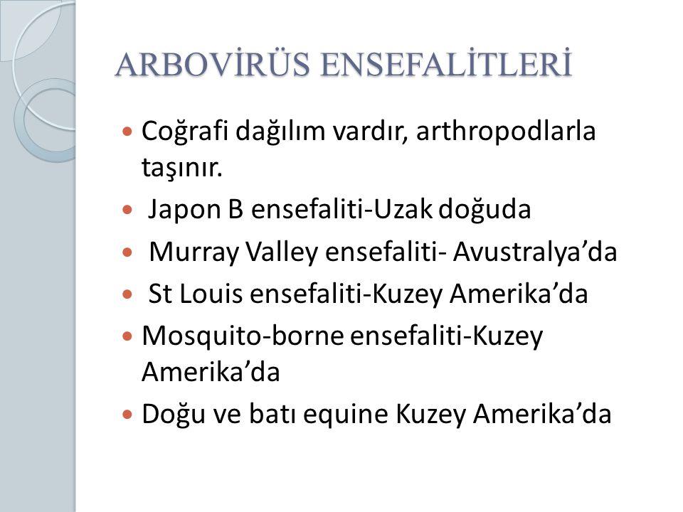 ARBOVİRÜS ENSEFALİTLERİ