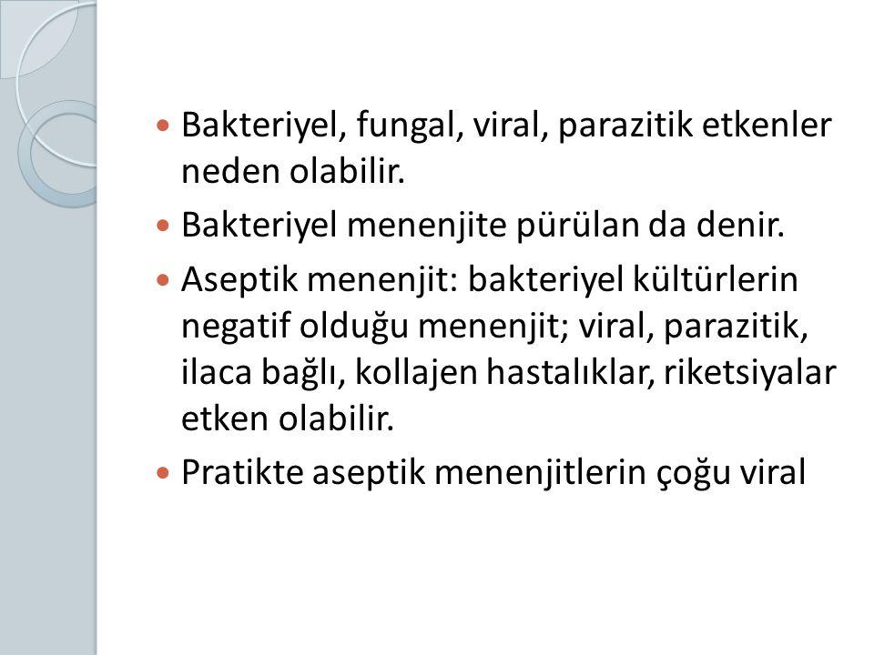 Bakteriyel, fungal, viral, parazitik etkenler neden olabilir.
