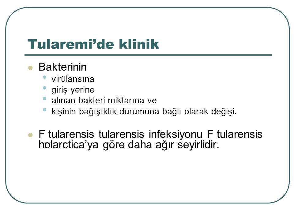 Tularemi'de klinik Bakterinin
