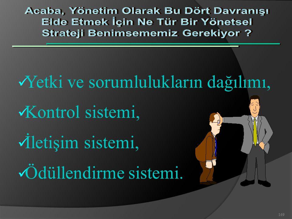 Yetki ve sorumlulukların dağılımı, Kontrol sistemi, İletişim sistemi,