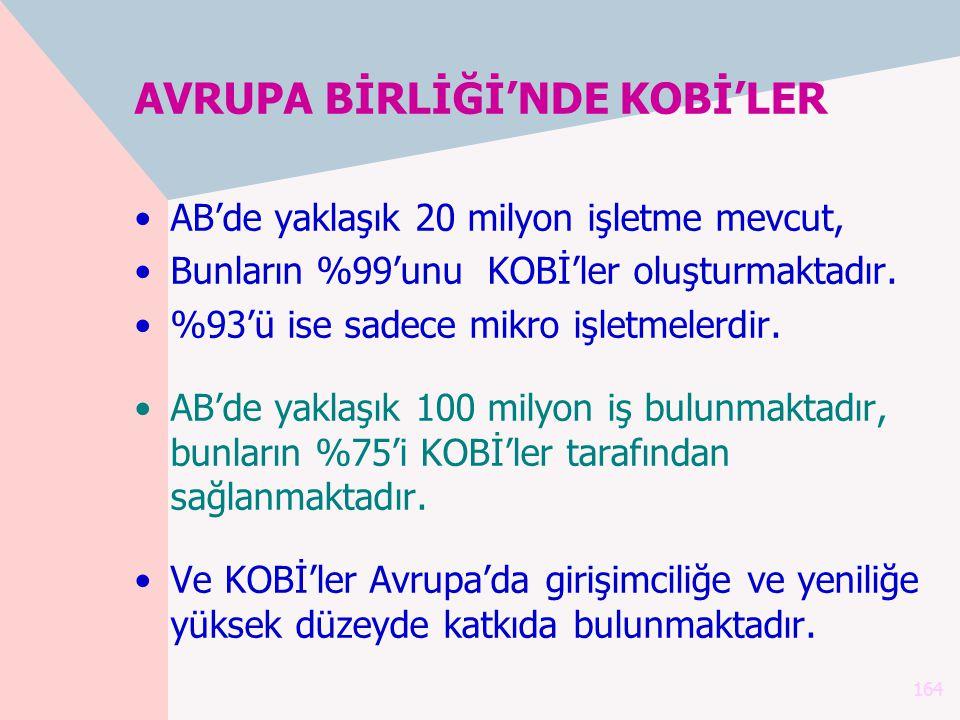 AVRUPA BİRLİĞİ'NDE KOBİ'LER