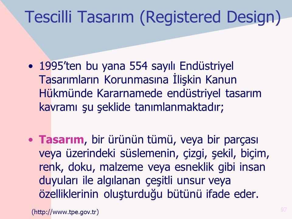 Tescilli Tasarım (Registered Design)