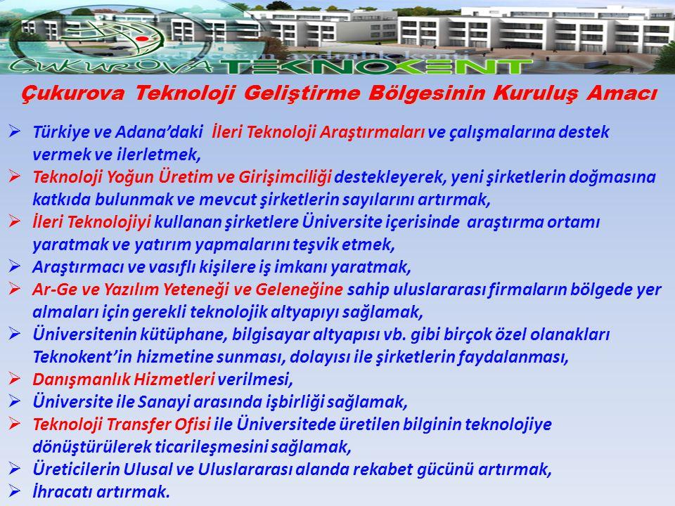 Çukurova Teknoloji Geliştirme Bölgesinin Kuruluş Amacı