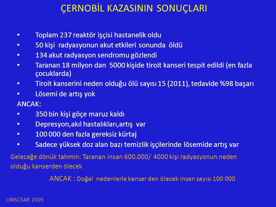ÇERNOBİL KAZASININ SONUÇLARI