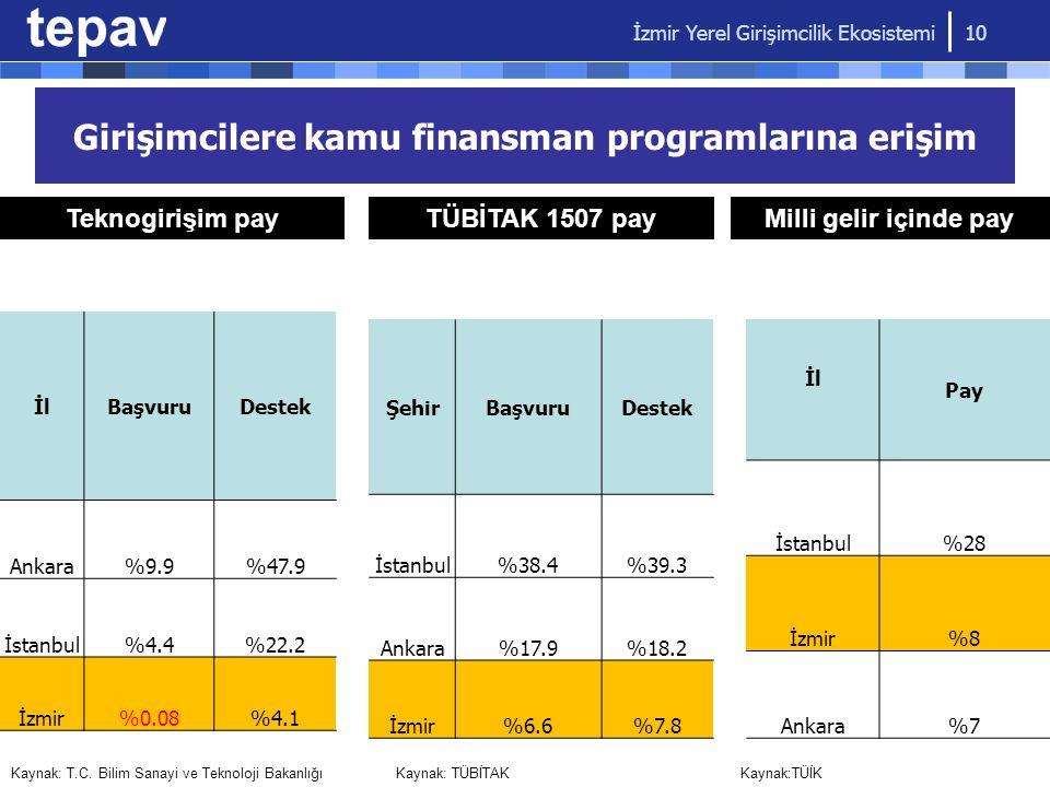 Girişimcilere kamu finansman programlarına erişim