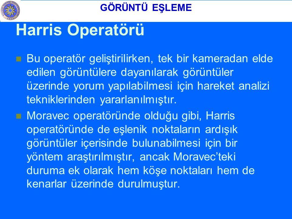 GÖRÜNTÜ EŞLEME Harris Operatörü.