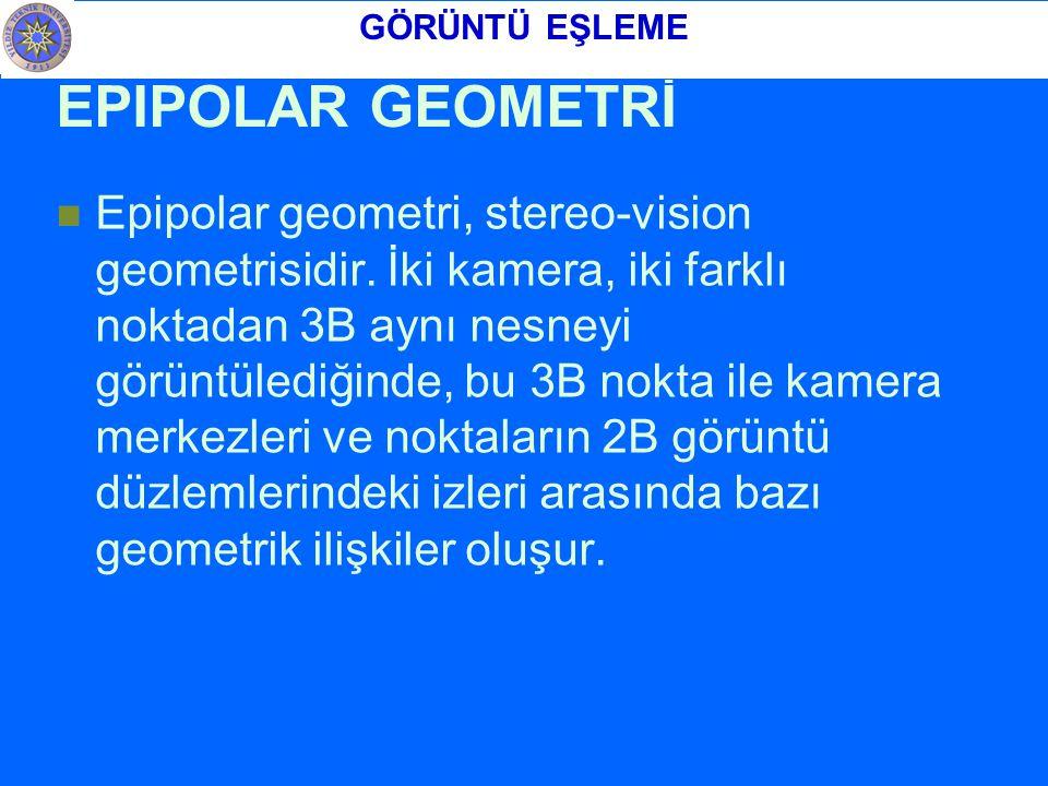 GÖRÜNTÜ EŞLEME EPIPOLAR GEOMETRİ.