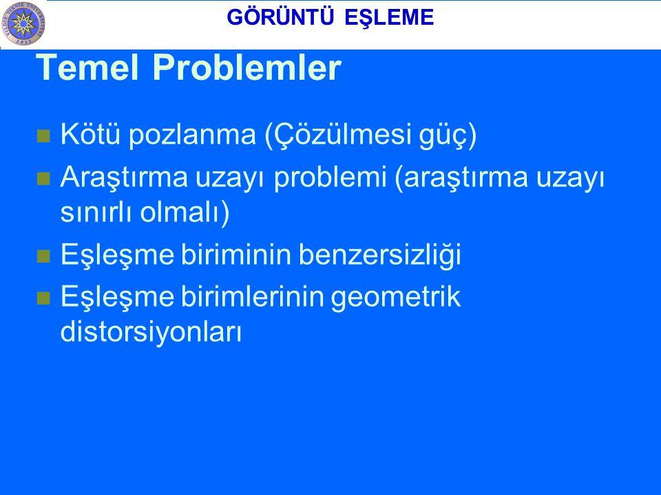 Temel Problemler Kötü pozlanma (Çözülmesi güç)