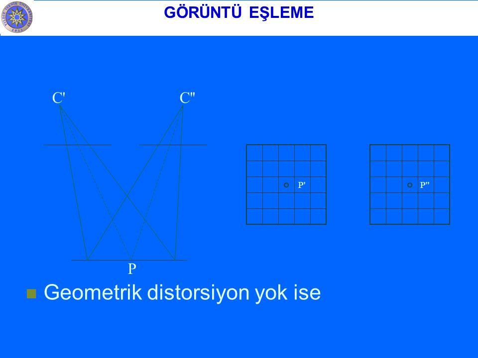 Geometrik distorsiyon yok ise