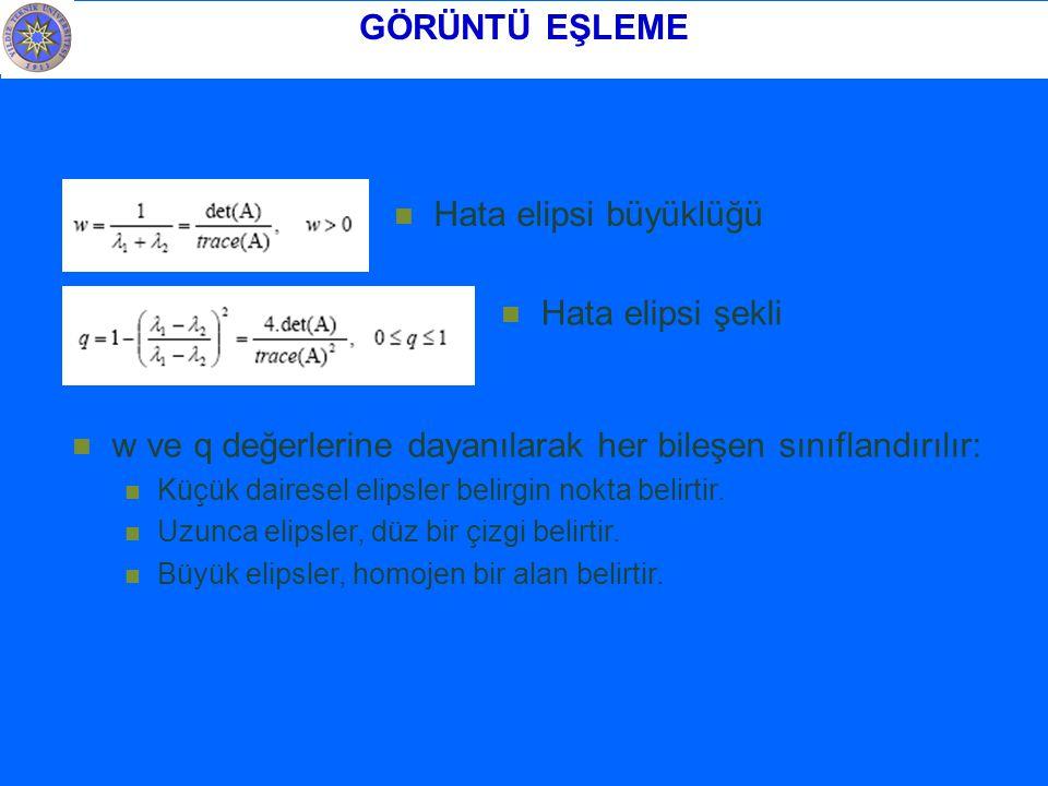 w ve q değerlerine dayanılarak her bileşen sınıflandırılır: