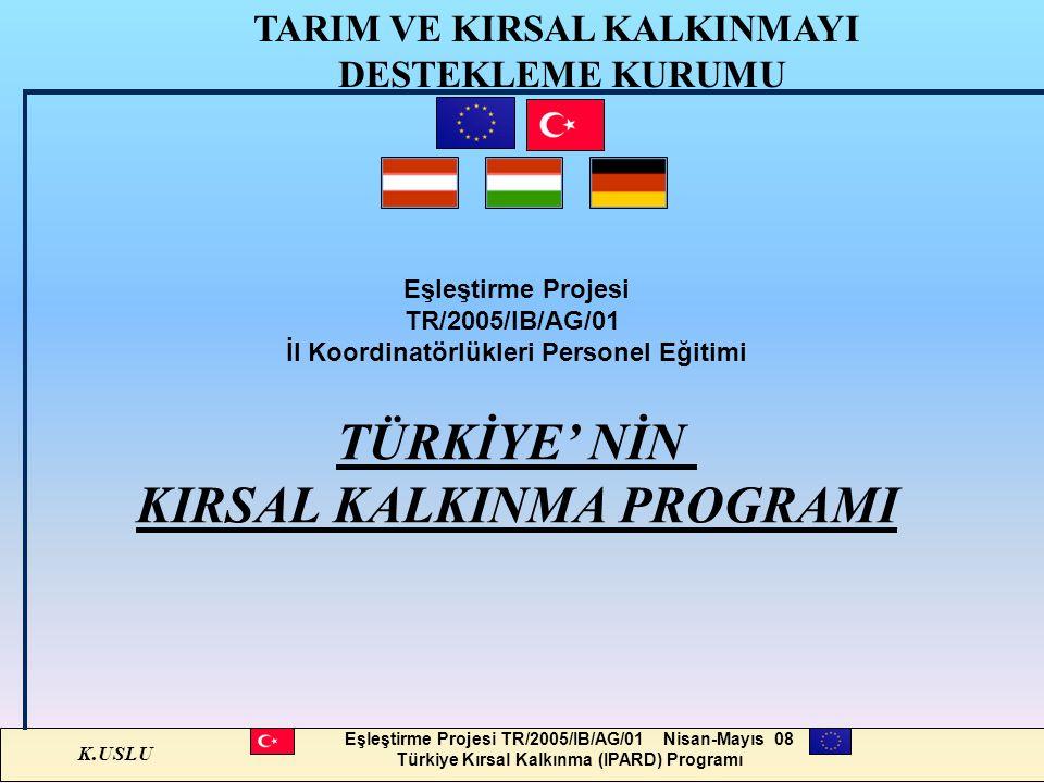 TÜRKİYE' NİN KIRSAL KALKINMA PROGRAMI