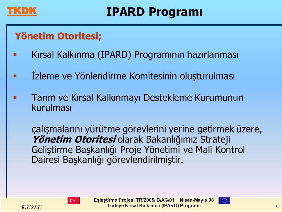 IPARD Programı Yönetim Otoritesi;