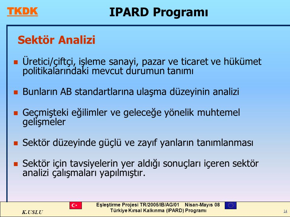 IPARD Programı Sektör Analizi