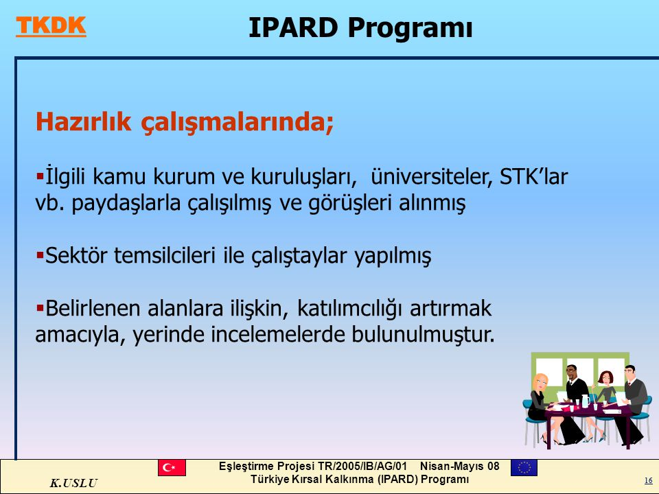 IPARD Programı Hazırlık çalışmalarında;