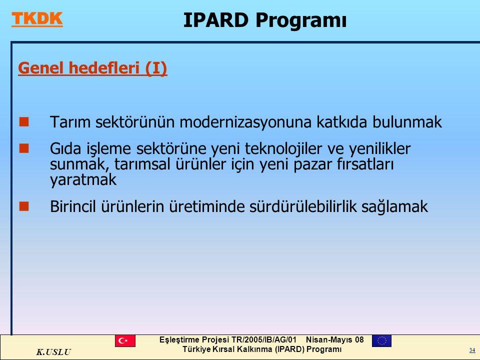 IPARD Programı Genel hedefleri (I)