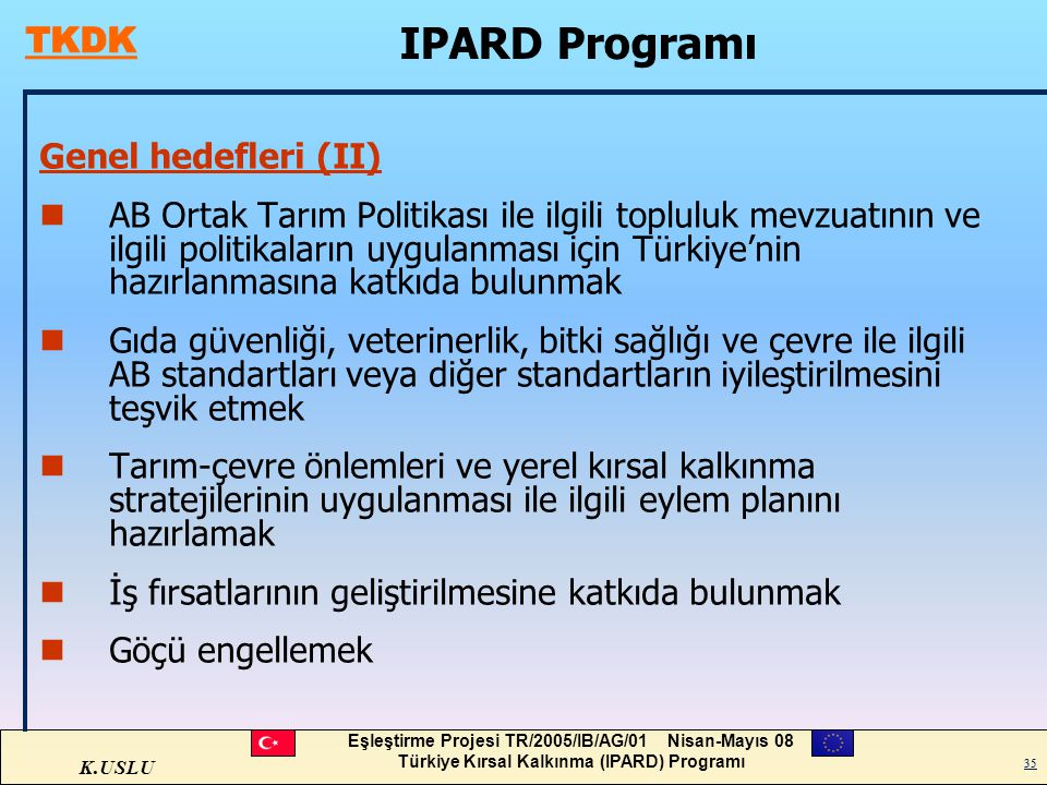 IPARD Programı Genel hedefleri (II)