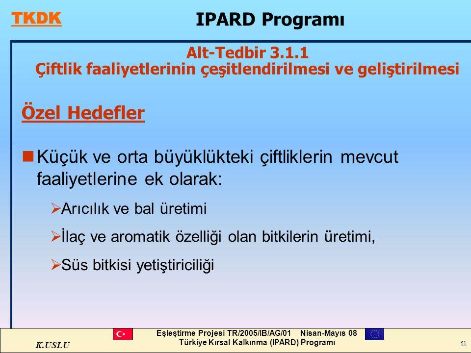 IPARD Programı Özel Hedefler