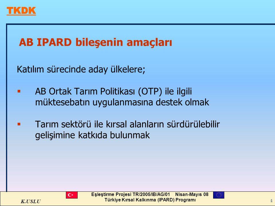 AB IPARD bileşenin amaçları