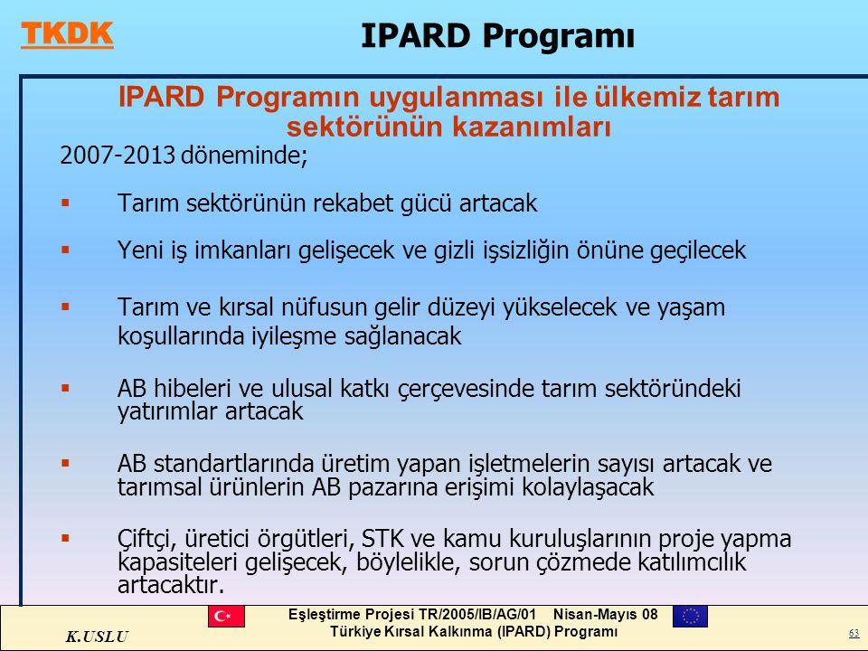 IPARD Programın uygulanması ile ülkemiz tarım sektörünün kazanımları