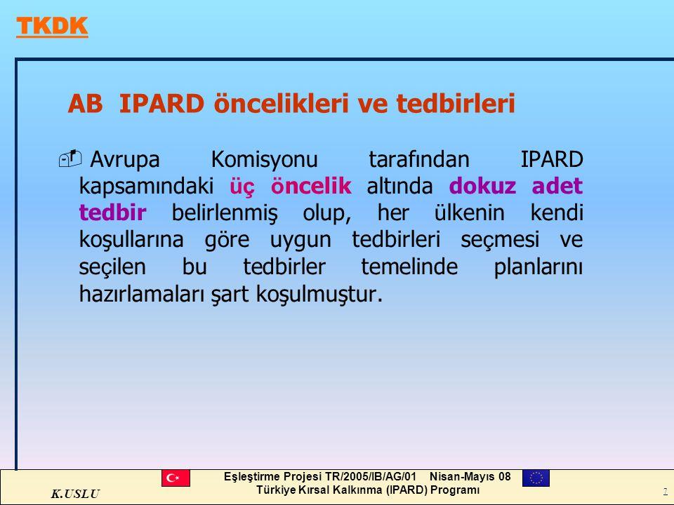 AB IPARD öncelikleri ve tedbirleri