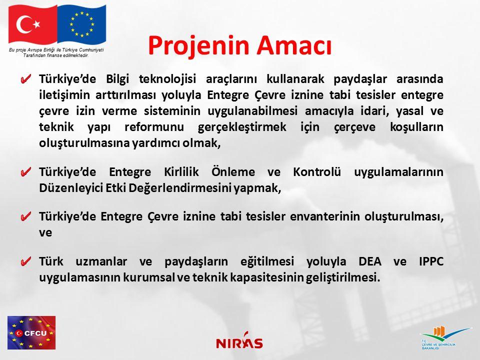 Projenin Amacı Bu proje Avrupa Birliği ile Türkiye Cumhuriyeti. Tarafından finanse edilmektedir.
