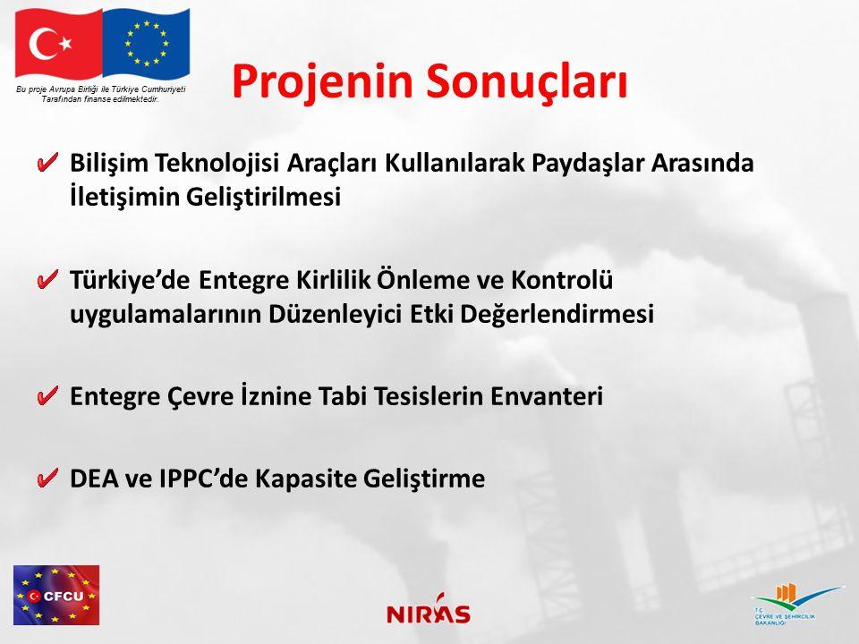 Projenin Sonuçları Bu proje Avrupa Birliği ile Türkiye Cumhuriyeti. Tarafından finanse edilmektedir.