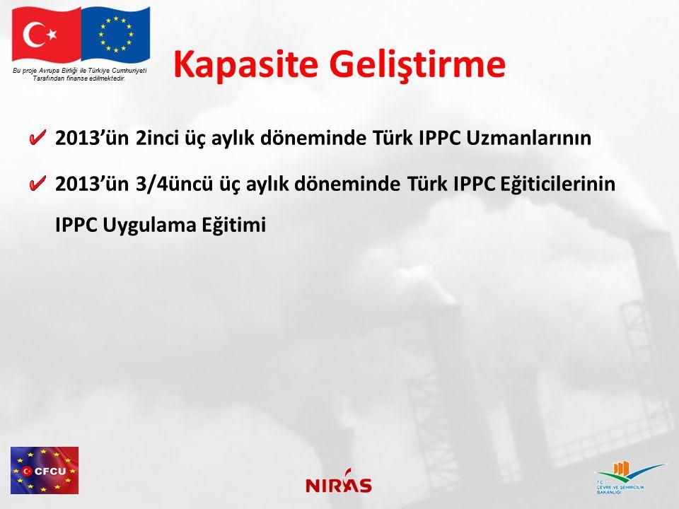 Kapasite Geliştirme Bu proje Avrupa Birliği ile Türkiye Cumhuriyeti. Tarafından finanse edilmektedir.