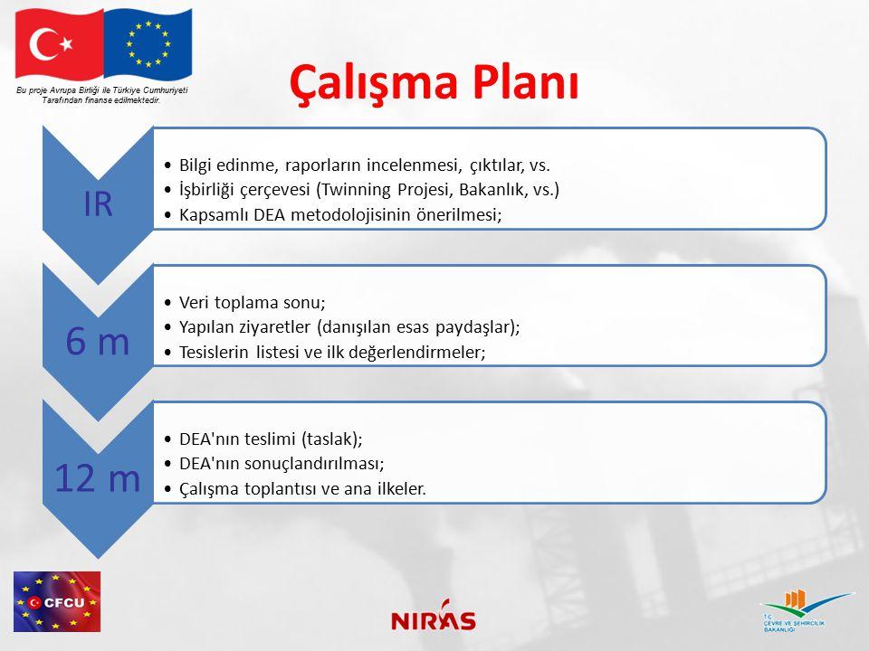 Çalışma Planı Bu proje Avrupa Birliği ile Türkiye Cumhuriyeti. Tarafından finanse edilmektedir. IR.