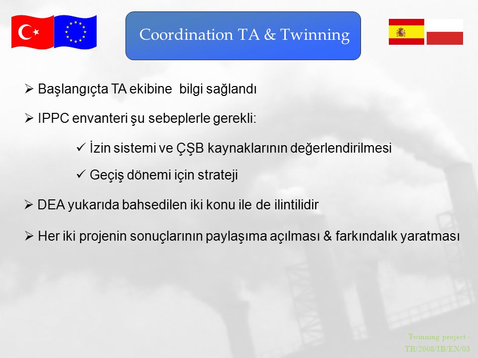 Coordination TA & Twinning