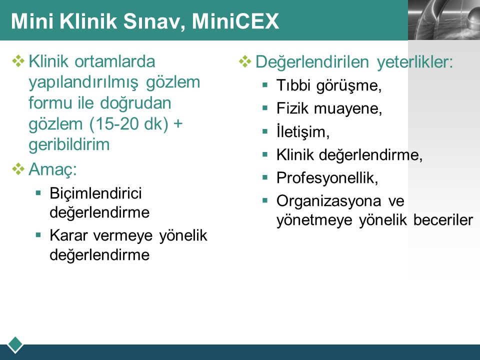 Mini Klinik Sınav, MiniCEX