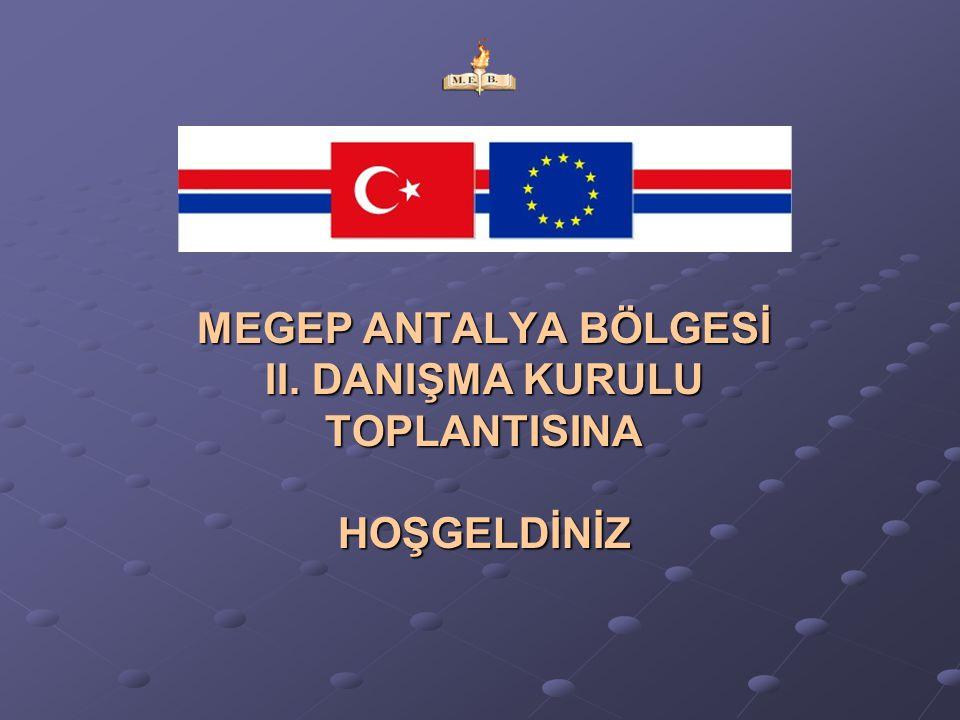 MEGEP ANTALYA BÖLGESİ II. DANIŞMA KURULU TOPLANTISINA HOŞGELDİNİZ