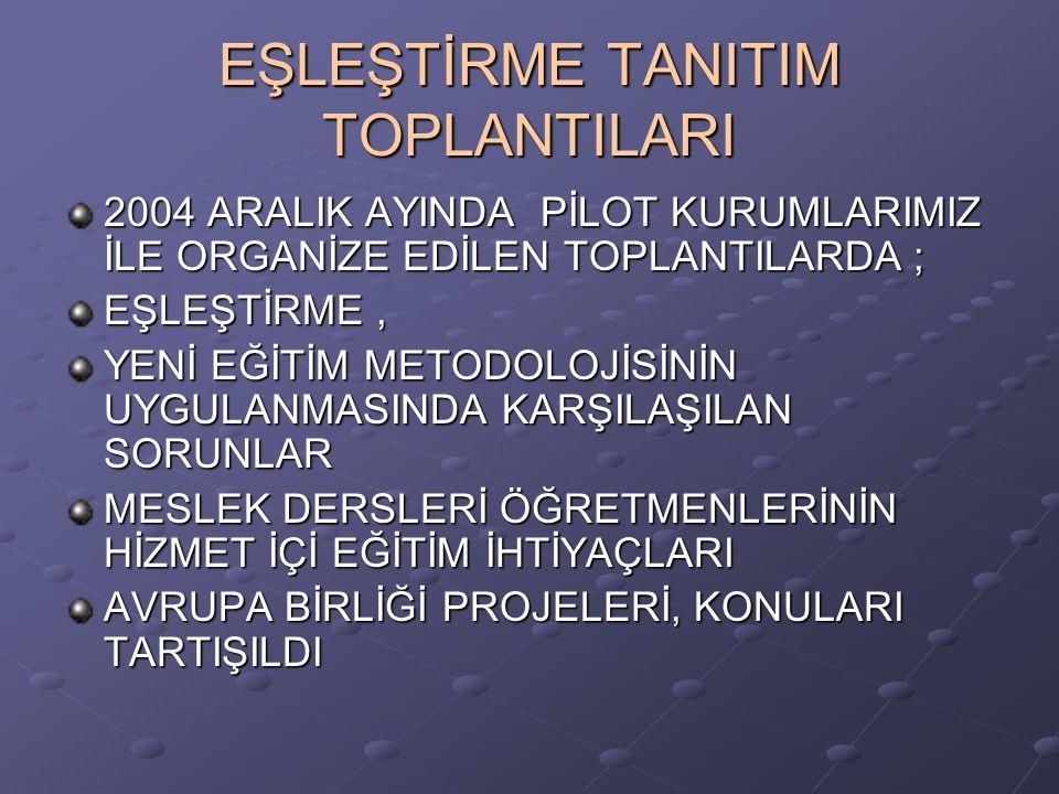 EŞLEŞTİRME TANITIM TOPLANTILARI