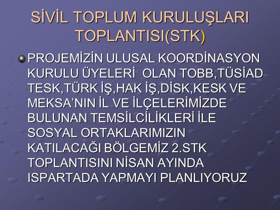 SİVİL TOPLUM KURULUŞLARI TOPLANTISI(STK)