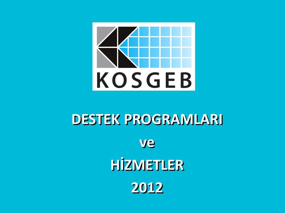 DESTEK PROGRAMLARI ve HİZMETLER 2012