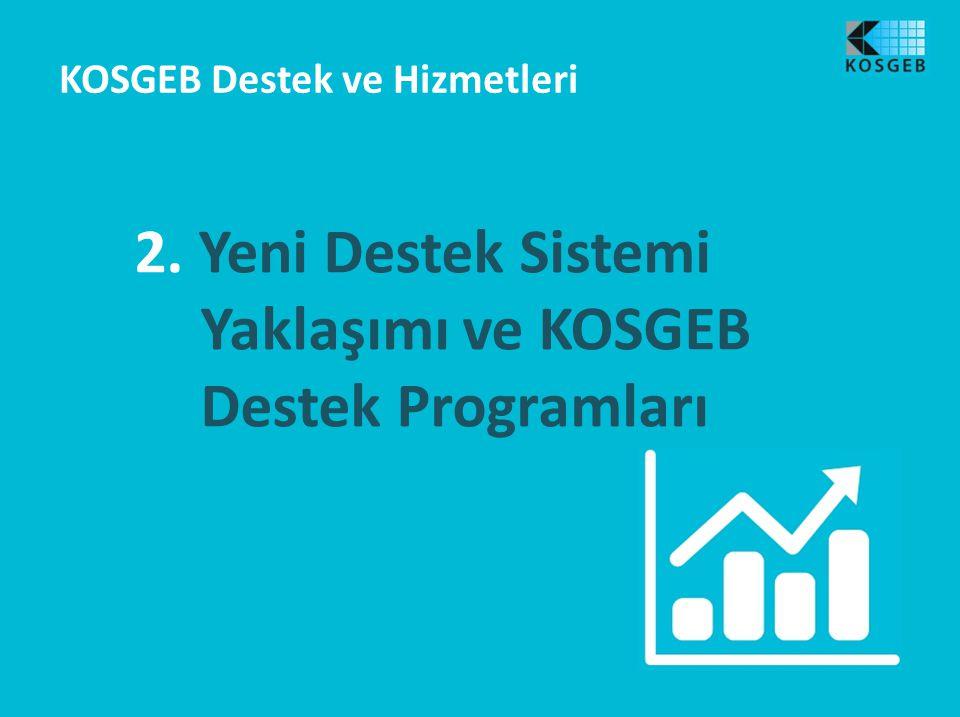 2. Yeni Destek Sistemi Yaklaşımı ve KOSGEB Destek Programları