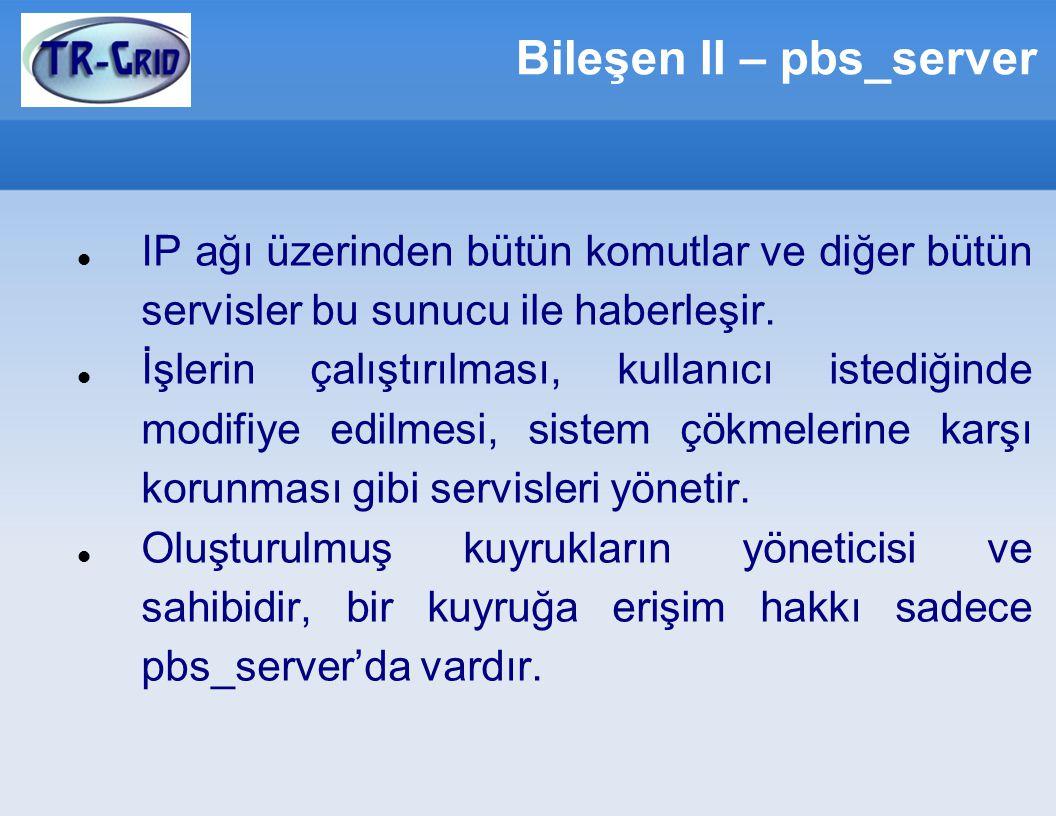 Bileşen II – pbs_server