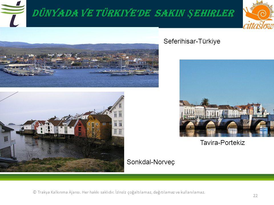 Dünyada ve Türkiye'de Sakin Şehirler Seferihisar-Türkiye