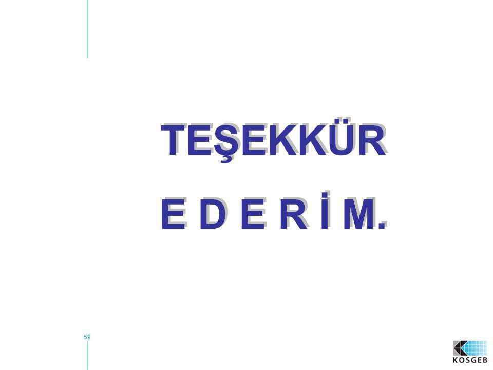 TEŞEKKÜR E D E R İ M.