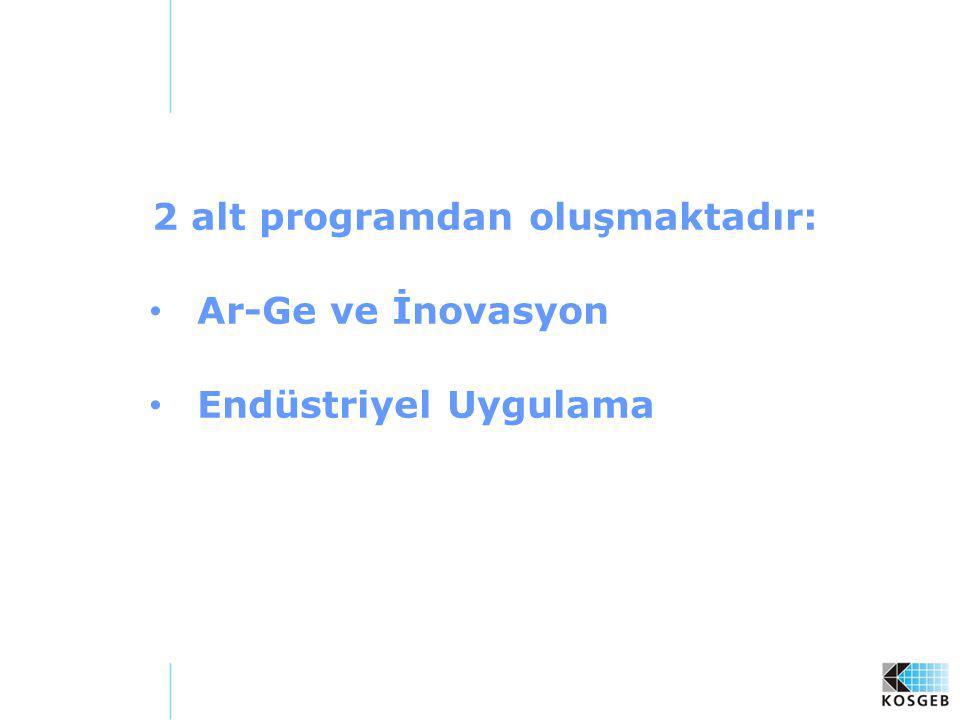 2 alt programdan oluşmaktadır:
