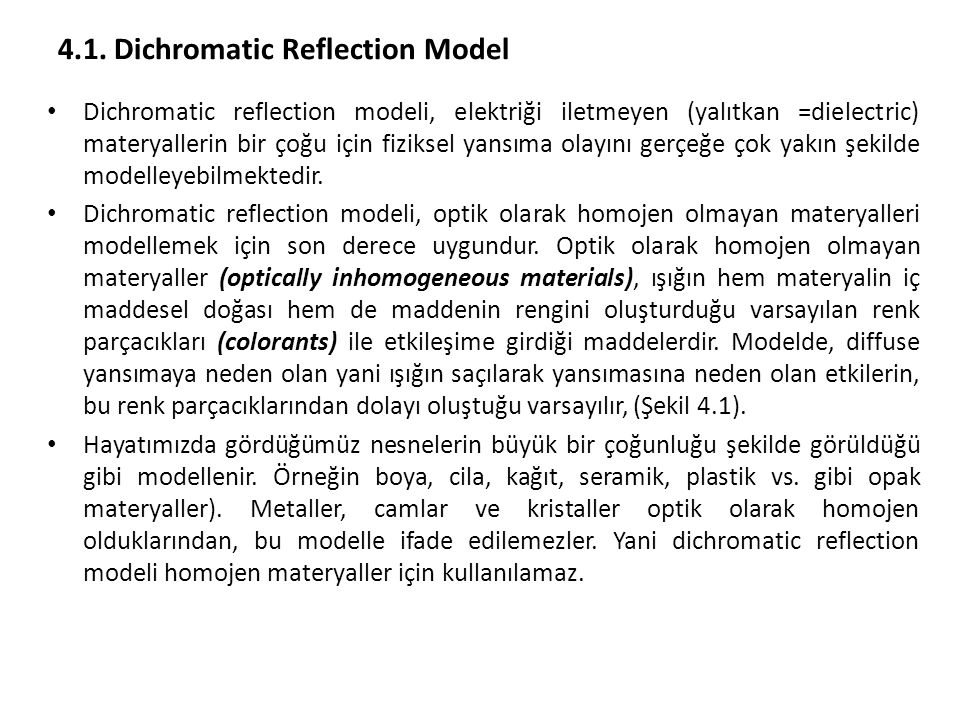 4.1. Dichromatic Reflection Model
