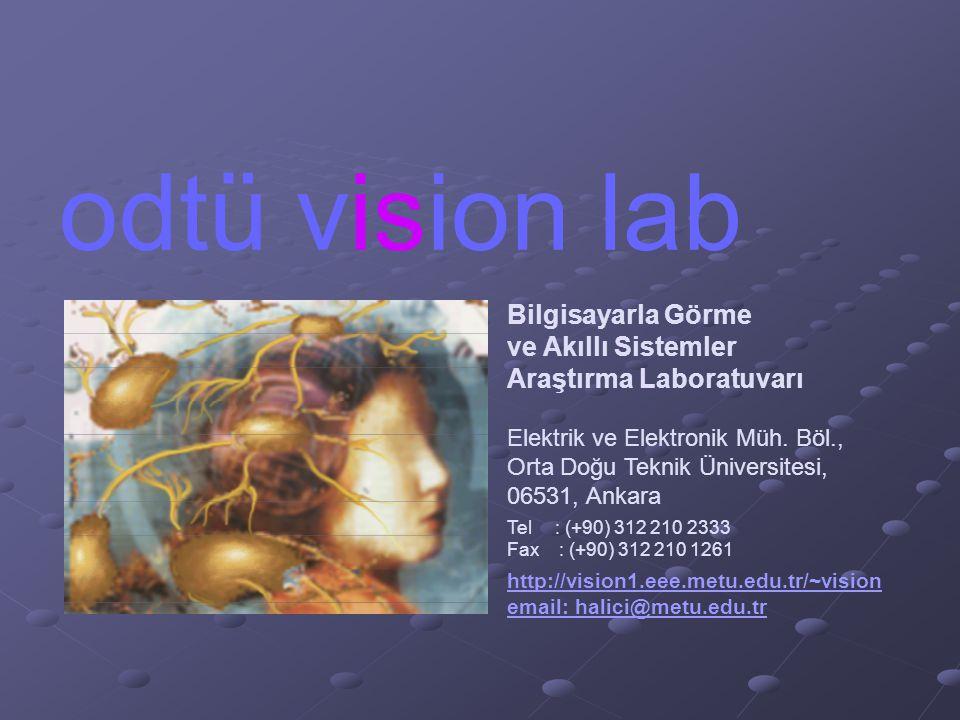 odtü vision lab Bilgisayarla Görme ve Akıllı Sistemler