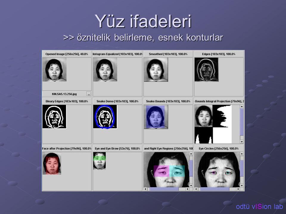 Yüz ifadeleri >> öznitelik belirleme, esnek konturlar