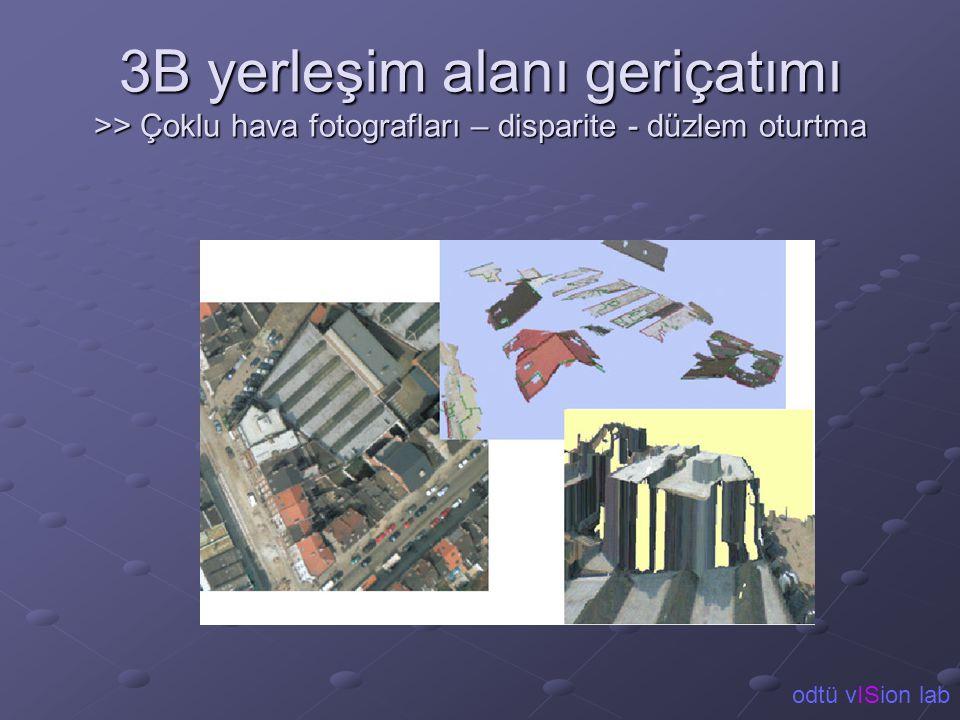 3B yerleşim alanı geriçatımı >> Çoklu hava fotografları – disparite - düzlem oturtma