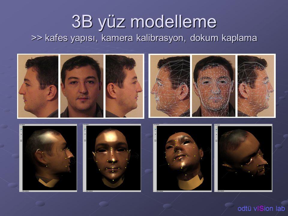 3B yüz modelleme >> kafes yapısı, kamera kalibrasyon, dokum kaplama