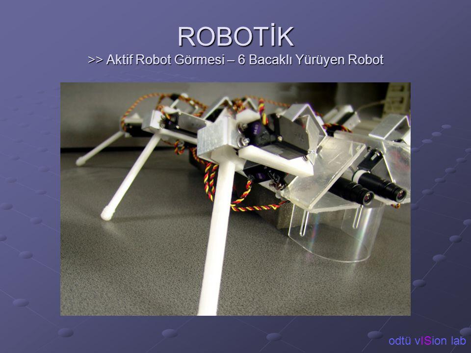 ROBOTİK >> Aktif Robot Görmesi – 6 Bacaklı Yürüyen Robot