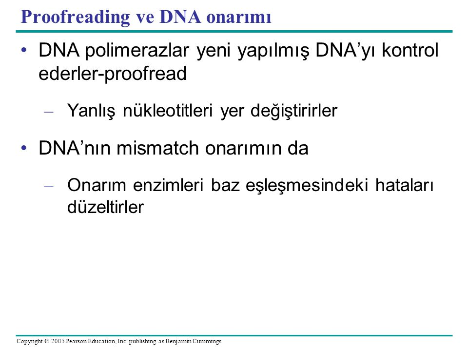 Proofreading ve DNA onarımı