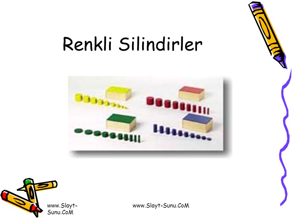 Renkli Silindirler www.Slayt-Sunu.CoM www.Slayt-Sunu.CoM