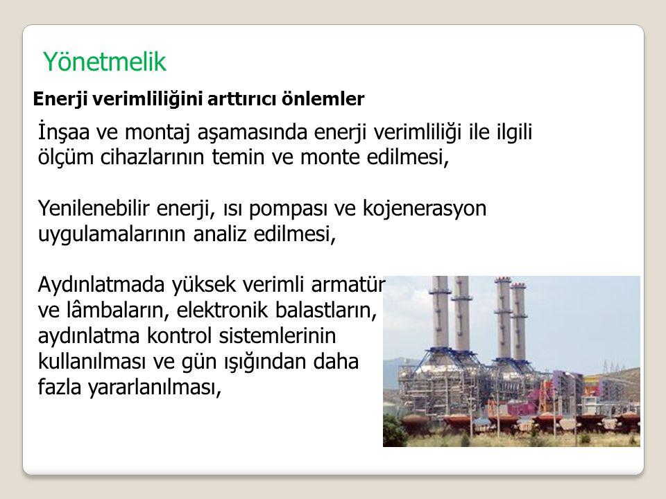 Yönetmelik Enerji verimliliğini arttırıcı önlemler.